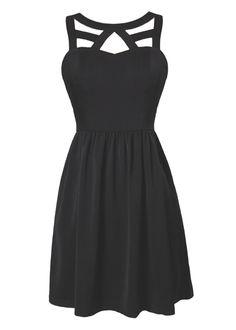 Little Black Dress / LBD / Cage Neckline Dress. I adore fun necklines like this.