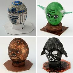 Star Wars Eggs — R2D2, Darth Vadar, Chewbacca, Yoda | 40 Creative Easter Eggs