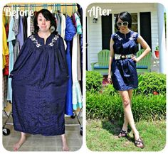 You can check out more awesome thrift store clothing makeovers here . | The Stylish Outfits This Woman Makes Out Of Secondhand Clothes Are Incredible