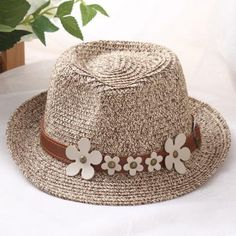 Item Type: Sun HatsDepartment Name: AdultBrand Name: AerlxemrbraePattern Type: SolidGender: UnisexModel Number: StrawStyle: CasualFeature: sun h Flower Belt, Cool Hats, Summer Hats, Hat Sizes, Sun Hats, Hats For Women, Summer Beach, Unisex, Flowers