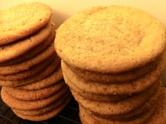 Rosh Hashana honey cookies. Very good. Very sticky dough though. Better to chill thoroughly first and then scoop into sugar.