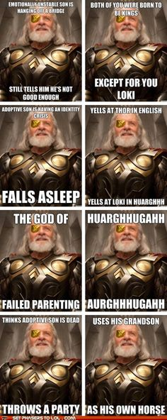 Odin is Kind Of a Terrible Father (Awww... Poor Loki.)
