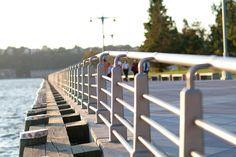 Custom Stainless Steel railing system at the Hudson River Park, New York, New York