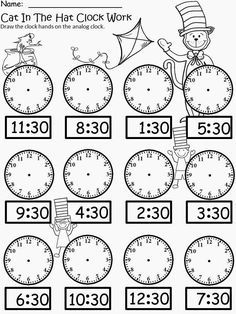 FREE winter printables for telling time