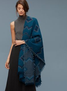 Wilfred DIAMOND MOSAIC BLANKET in COLOUR: LEGION/ROYAL NAVY | Aritzia 2016