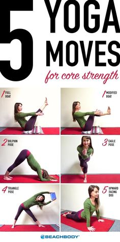You don't need to perform endless crunches to build a strong, sexy core. Add these 5 yoga moves into your fitness plan and see the results roll in! // fitness // workouts // ab exercises // yoga poses // fit fam // Beachbody // BeachbodyBlog.com