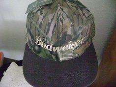 Budweiser Camoflauge Ball Cap Anheuser Busch Mossy Oaks Snapback Adjustable  NWT Trucker Hats c62e80f5cc70