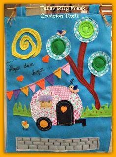 Caravan wall hanging mural textile