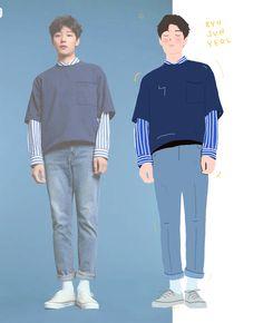 RyuJunYeol by.theold Ryu Joon Yeol, Kdrama, Learn Korean, Drama Korea, Korean Actors, Art Sketches, Doodle, Bb, Kpop
