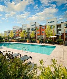 Take a dip in the CanalSide Lofts pool