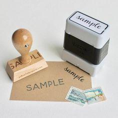 Return Address Stamp, custom address stamp, black self inking stamp, rubber stamp wood handle Custom Return Address Stamp, Yellow Fish, Book Labels, Self Inking Stamps, Ink Pads, Wooden Handles, Teacher Gifts, Monogram, Circuit