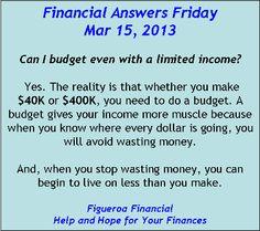 Financial Answers Friday (Mar 15, 2013)