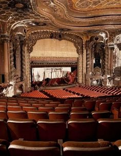abandoned theater. I wish I could make this place my own, and make it alive with plays once more
