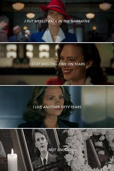 Agent Carter: When my time is up, have I done enough? Will they tell my story?