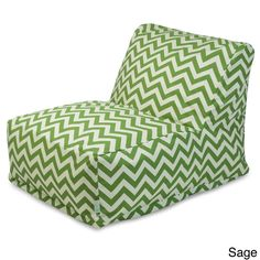 Indoor/Outdoor Zig Zag Bean Bag Chair Lounger - Overstock™ Shopping - Big Discounts on Majestic Home Goods Sofas, Chairs & Sectionals