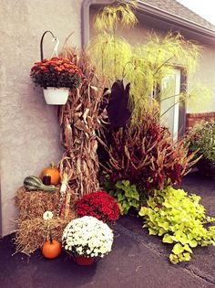 Fall decorations here at DelightedHome.com