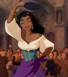 "Esmeralda in Disney's ""The Hunchback of Notre Dame"", 1996."