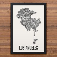 LOS ANGELES Neighborhood Map Print by FlyingJunction on Etsy
