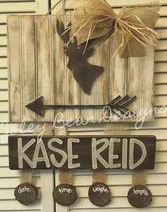 Items similar to Beadboard Deer Hospital Door Hanger on Etsy Hospital Door Hangers, Baby Door Hangers, Baby Decor, Baby Shower Decorations, Cute Baby Names, Boy Names, Birth Announcement Sign, Baby Frame, Paint Party