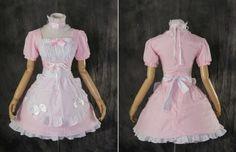 M-3137-S-M-L-XL-XXL-rosa-pink-classic-Lolita-Kleid-dress-Cosplay-Kostuem-costume