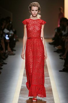 Valentino.. something about this i love, and i love the natural makeup and the updo.