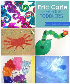 A craft for each Eric Carle book. Easy and fun crafts for your toddler to make.