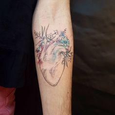 Anatomical Heart Tattoo by Otavio Borges