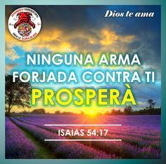 Ninguna arma forjada contra ti prosperará, y condenarás toda lengua que se levante contra ti en juicio. Esta es la herencia de los siervos de Jehová, y su salvación de mí vendrá, dijo Jehová. Isaías 54:17