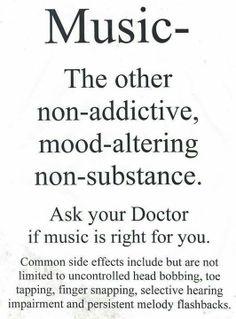 the prescription is music