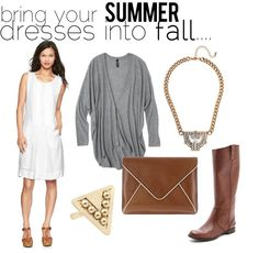 jillgg's good life (for less) | a style blog: how to bring your summer dresses into fall!