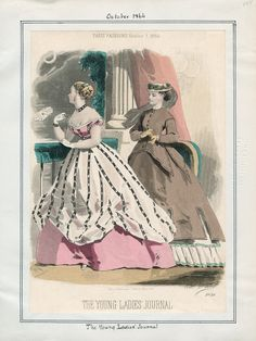 The Young Ladies' Journal October 1866 LAPL