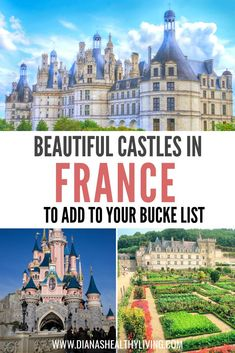 If you are heading to France then you will want to visit some of the most beautiful castles in France. The castles in France are some of the most romantic castles that you should visit. Chateaus in the South of France. Medieval Castles in northern France. Europe Destinations, Europe Travel Tips, European Travel, Travel Guides, Places To Travel, Places To Visit, European Vacation, Travel Abroad, Travel Goals