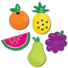 Tutti Fruity shaped paper cut outs are the perfect addition to your list of baby shower or birthday party supplies. These fun fruity shaped embellishments will help make all of your party crafts be extra-special, and then they can be used in the scrapbook afterward to remember the