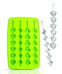Siliconezone Poker Wand Ice Tray | zulily . $8.49 $12.00 Product Description: The unique poker-themed shapes of the molds in this tray make ice wands instead of cubes that are perfect for a night in with some friends and a deck of cards. A flexible silicone construction makes ice extraction easy, excellent for quickly mixing drinks in between hands. 6.1'' W x 9.8'' H Silicone BPA-free Nonstick Dishwasher-safe Imported