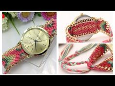 Relojes tejidos a Mano - hand-woven watches! - YouTube
