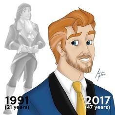 Prince Adam/Beast - Before and After 🥀 - - - - Disney Pixar, Disney Amor, Walt Disney, Disney Marvel, Disney Animation, Disney Magic, Old Disney Characters, All Disney Princesses, Humor Disney