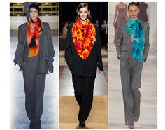 Vogue Winter Trends - Suiting — Kathy Beal Signature | Luxury Scarves Handcrafted By Artist Kathy Beal