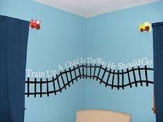 Train up a child! Bulletin board idea.