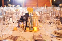 A Yellow and Gray California Wedding via TheELD.com