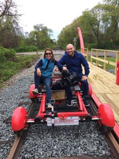 """PORTSMOUTH, RI - Part train, part bike. Pedal - that's right, pedal - down the tracks along Rhode Island's Narragansett Bay on an excursion like no other, courtesy of Rail Explorers. """"This is the only place right now that you can ride rail bikes in the United States,"""" said General Manager Rick Best."""