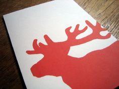 Printable Christmas Card - Big Reindeer