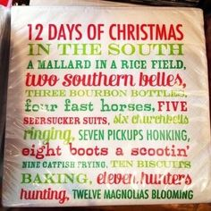 southern 12 days of christmas christmas time is here 12 days of christmas merry - 12 Redneck Days Of Christmas Lyrics