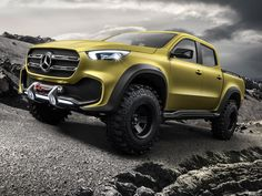 In case you missed the news – Mercedes-Benz will make its first foray into the ute/pick-up market this year. With the help of Nissan, Mercedes-Benz will call its inaugural ute the Mercedes-Benz X-Class and we [. Mercedes Benz Vans, Mercedes Benz Classe G, Mercedes Benz Trucks, New Mercedes, Mercedes Concept, Pickup Trucks, New Trucks, Cool Trucks, Station Wagon