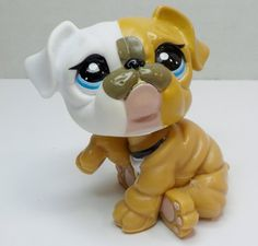 Littlest Pet Shop mommy Bulldog 3587 loose pet