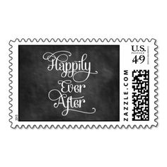 Happily Ever After Chalkboard Stamp