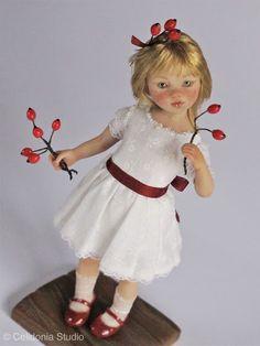 ooak art doll in 1/12 scale