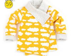 Reversible wrap cardigan sewing pattern // photo tutorial // instant download // Preemie-6T // #59