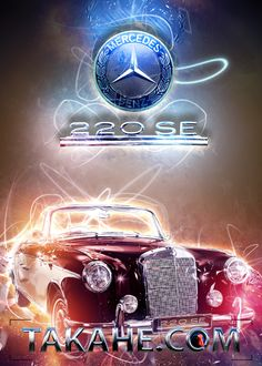 Ein zweifarbiger Mercedes 220SE als Cabrio - wer damals so weit war, der hatte es schon zu was gebracht.