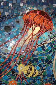 Bathroom Mosaic - Jellyfish by mikerizzi, via Flickr