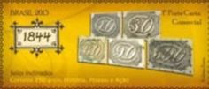 Sello: 1844 (Brasil) (350 years Brazilian Post Office) Mi:BR 4063,RHM:BR C-3254